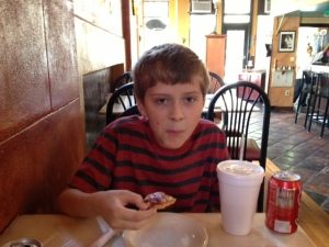 My son would love to be a food tester for the kind except for one teeny, tiny little problem.