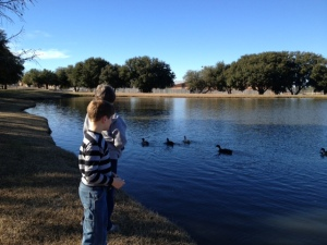 We recently spent some time feeding ducks and playing kickball. Now, if we can just teach the ducks how to play kickball, we should have some much more competitive games . . .