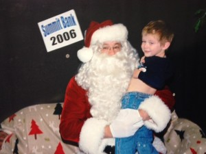 I'm not going to say Santa was happy to see my son, but he WAS happy to see him leave.