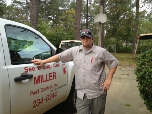 Michael, of Miller's Pest Control, has been keeping my house critter-free. Michael is one of the few men on this planet who has seen the horrors that live under my house and lived to tell about it. Well, him and the cable tv guy. Oh, and there was the guy who installed my phone. And I caught one of my neighbors coming out from under there one time. I think she was dating a possum, but she wouldn't admit to it. But when I asked to see her hands, I found some fur under her fingernails. And, well, ummm, I've been under there a few time. But other than THOSE people, NO ONE lives to speak of these horrors!
