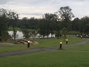 The running trail in Mena, Arkansas, provides a nice view with a challenging figure-8 layout.