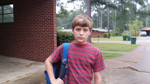 My son wasn't the happiest of campers when it was time to return to school this week.