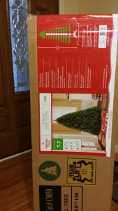 I gave real thought this year to instead of using an ARTIFICIAL tree for Christmas, we could use a REAL box!