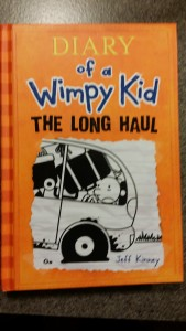 The newest book in the Wimpy Kid series is one of several books my son has read to me lately.
