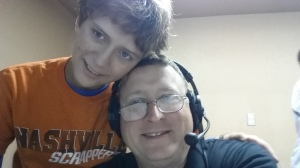 It's always a good time when my son and I travel to broadcast high school football.